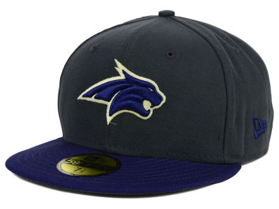Montana State Bobcats New Era NCAA 2 Tone Graphite and Team Color 59FIFTY Cap