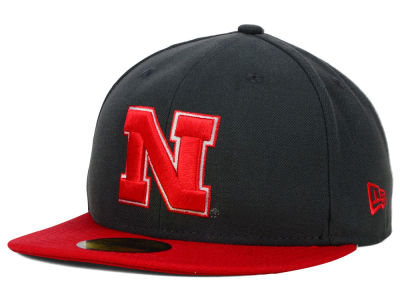 Nebraska Cornhuskers New Era NCAA 2 Tone Graphite and Team Color 59FIFTY Cap