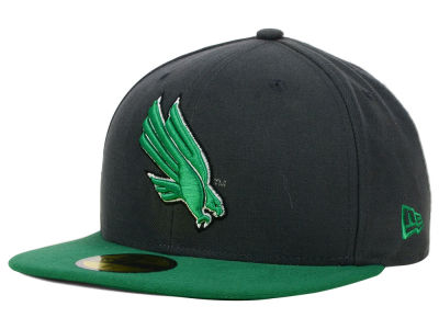 North Texas Mean Green New Era NCAA 2 Tone Graphite and Team Color 59FIFTY Cap