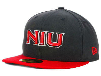 Northern Illinois Huskies New Era NCAA 2 Tone Graphite and Team Color 59FIFTY Cap
