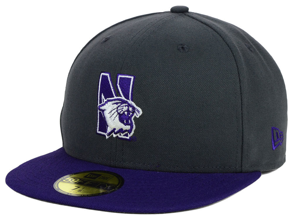 4bdaed536b8 Northwestern Wildcats New Era NCAA 2 Tone Graphite and Team Color 59FIFTY  Cap