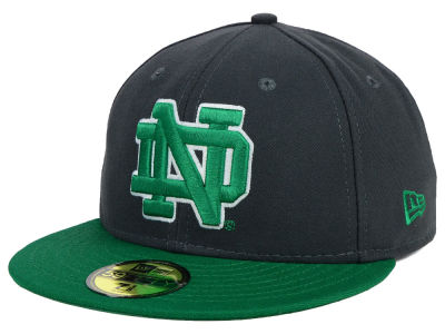 Notre Dame Fighting Irish New Era NCAA 2 Tone Graphite and Team Color 59FIFTY Cap