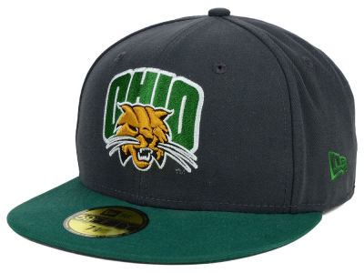 Ohio Bobcats New Era NCAA 2 Tone Graphite and Team Color 59FIFTY Cap