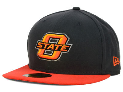 Oklahoma State Cowboys New Era NCAA 2 Tone Graphite and Team Color 59FIFTY Cap