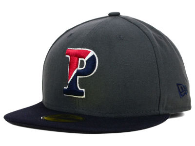 Pennsylvania Quakers New Era NCAA 2 Tone Graphite and Team Color 59FIFTY Cap