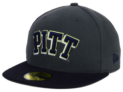 Pittsburgh Panthers New Era NCAA 2 Tone Graphite and Team Color 59FIFTY Cap