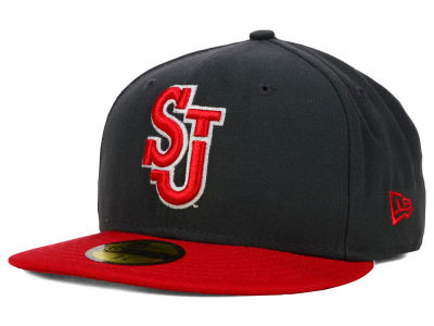 St Johns Red Storm New Era NCAA 2 Tone Graphite and Team Color 59FIFTY Cap