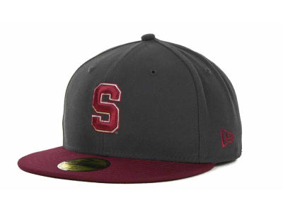 Stanford Cardinal New Era NCAA 2 Tone Graphite and Team Color 59FIFTY Cap