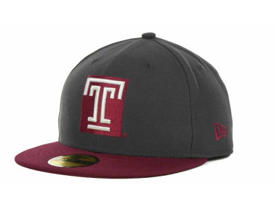 Temple Owls New Era NCAA 2 Tone Graphite and Team Color 59FIFTY Cap