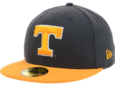 Tennessee Volunteers New Era NCAA 2 Tone Graphite and Team Color 59FIFTY Cap