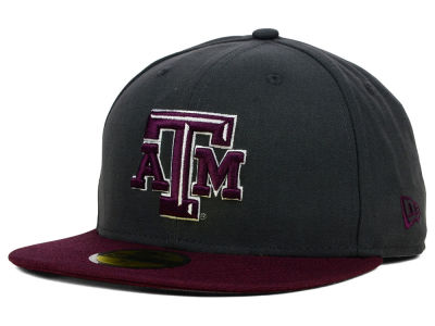 Texas A&M Aggies New Era NCAA 2 Tone Graphite and Team Color 59FIFTY Cap