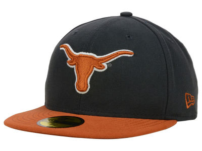 Texas Longhorns New Era NCAA 2 Tone Graphite and Team Color 59FIFTY Cap