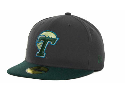 Tulane Green Wave New Era NCAA 2 Tone Graphite and Team Color 59FIFTY Cap