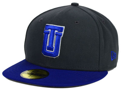 Tulsa Golden Hurricane New Era NCAA 2 Tone Graphite and Team Color 59FIFTY Cap