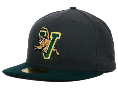 Vermont Catamounts New Era NCAA 2 Tone Graphite and Team Color 59FIFTY Cap
