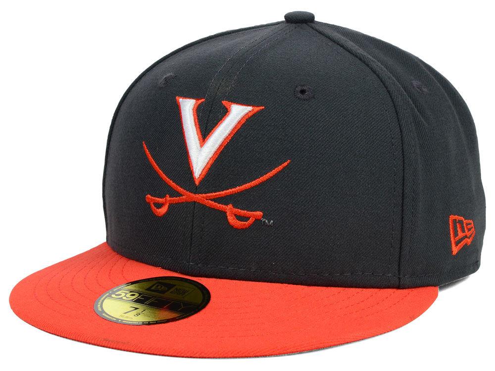 Virginia Cavaliers New Era NCAA 2 Tone Graphite and Team Color 59FIFTY Cap   4646fa710ba3