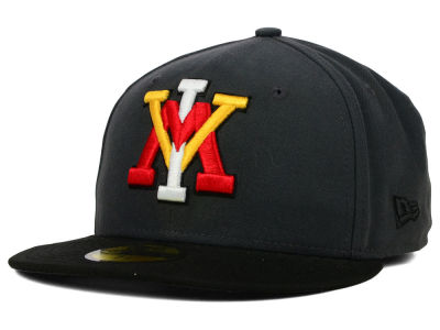 VMI Keydets New Era NCAA 2 Tone Graphite and Team Color 59FIFTY Cap