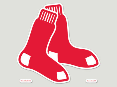 Boston Red Sox Die Cut Color Decal 8in X 8in