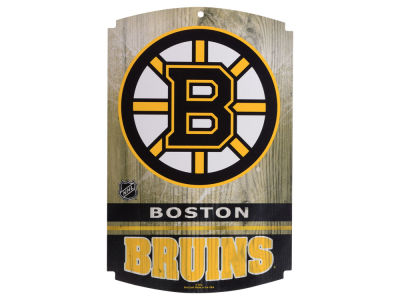 Boston Bruins 11x17 Wood Sign