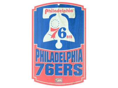 Philadelphia 76ers 11x17 Wood Sign