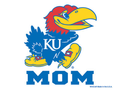 Kansas Jayhawks 3x4 Ultra Decal