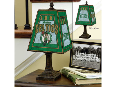 Boston Celtics Art Glass Table Lamp