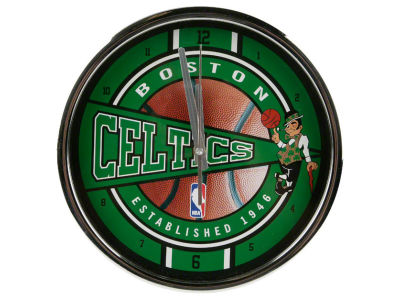 Boston Celtics Chrome Clock