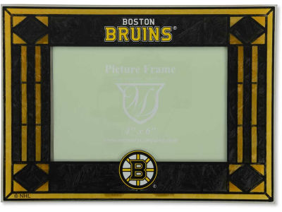 Boston Bruins Art Glass Picture Frame