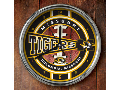 Missouri Tigers Chrome Clock