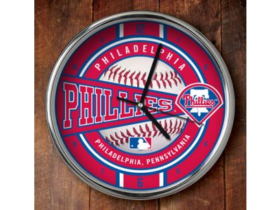 Philadelphia Phillies Chrome Clock