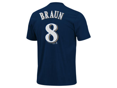 Milwaukee Brewers Ryan Braun Majestic MLB Youth Player T-Shirt