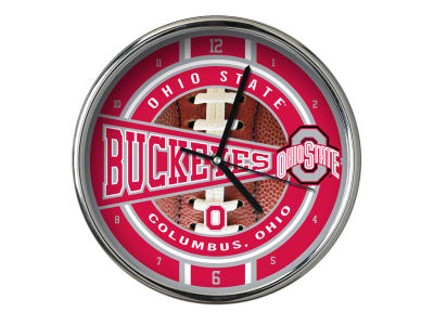 Ohio State Buckeyes Chrome Clock