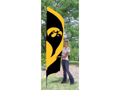 Iowa Hawkeyes Tall Team Flag