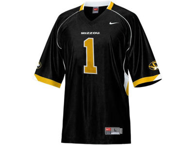 Missouri Tigers Mizzou #1 NCAA Youth Replica Football Jersey