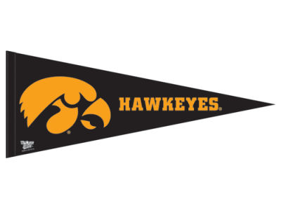 Iowa Hawkeyes 12x30in Pennant