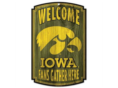 Iowa Hawkeyes 11x17 Wood Sign