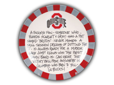 Ohio State Buckeyes NCAA Definite Fan Plate