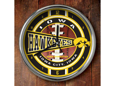 Iowa Hawkeyes Chrome Clock