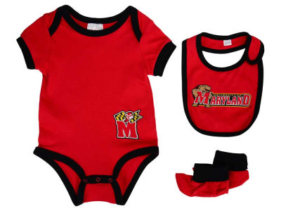 Maryland Terrapins Newborn Bib & Bootie Set