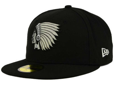 Boston Braves New Era MLB Black and White Fashion 59FIFTY Cap