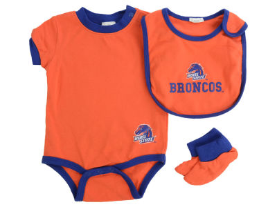 Boise State Broncos MLB Newborn Bib And Bootie Set