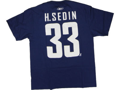 Vancouver Canucks Henrik Sedin Reebok NHL CN Player T-Shirt