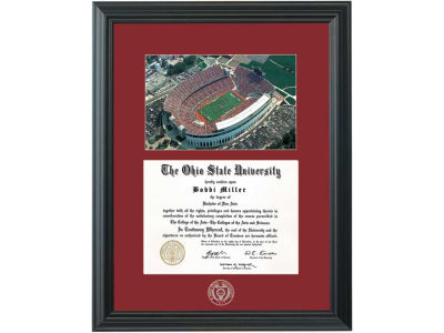 Ohio State Buckeyes NCAA Diploma Frame Black with Photo