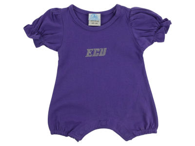 East Carolina Pirates NCAA Infant Girls Romper Rhinestone