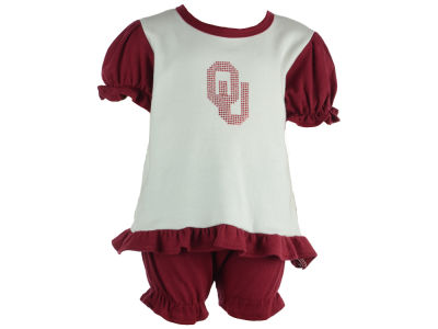 Oklahoma Sooners NCAA Infant Girls Romper Rhinestone