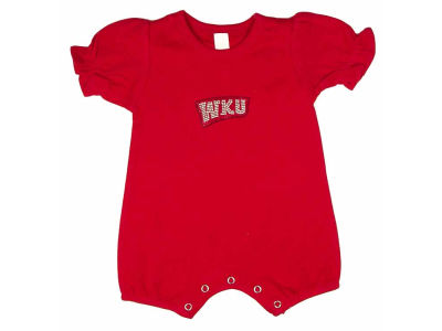 Western Kentucky Hilltoppers NCAA Infant Girls Rhinestone Romper