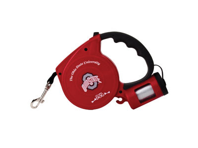 Ohio State Buckeyes Retractable Lead with Waste Bag