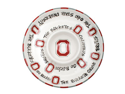 Ohio State Buckeyes Ceramic Chip & Dip