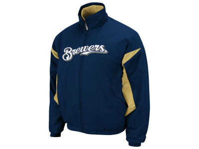 Milwaukee Brewers Majestic MLB Youth TB Triple Peak Premier Jacket