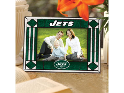 New York Jets Art Glass Picture Frame
